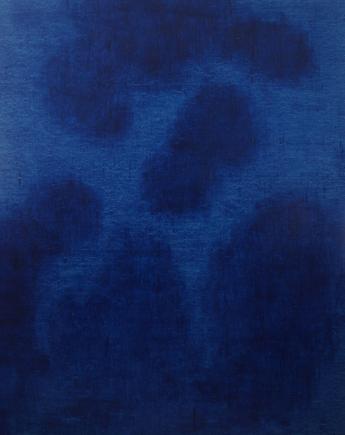 "Painting by Ege Arp-Hansen ""deeper"", 2018 acrylics, linen canvas 145 x 115 x 3 cm"