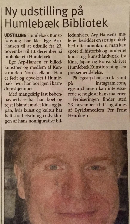 Udklip fra Uge Nyt Fredensborg19.11.19