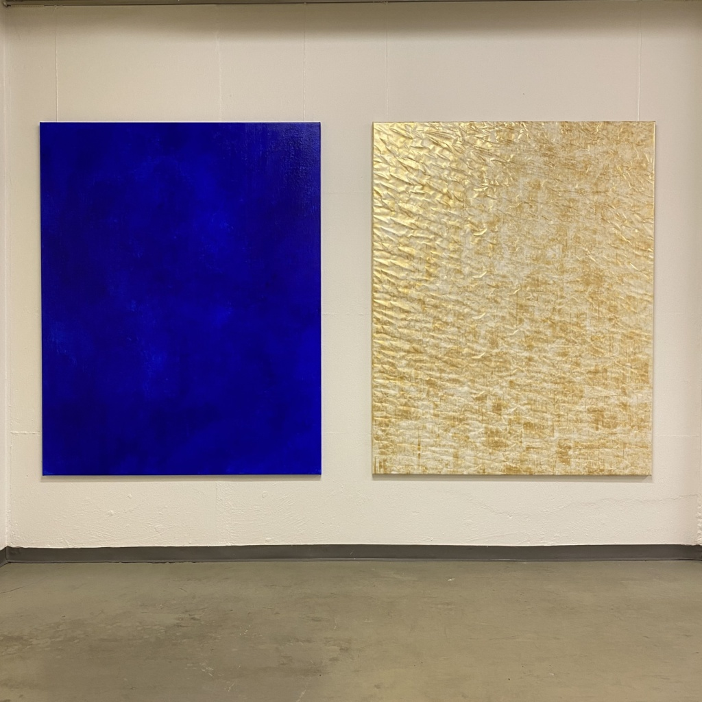 """from here to nowhere"" and ""drifting through""   paintings by Arp-Hansen"